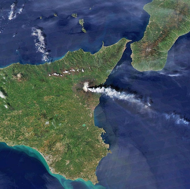 Mount Etna from space