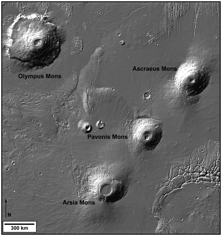 pictures of volcanoes on mars. Photos from the Mars Express orbiter show volcanic cones, lava flows and