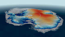 Map of Antarctica produced using CryoSat-2 data