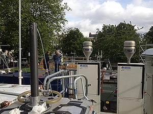 One of the ClearfLo project's atmospheric monitoring station's in London.
