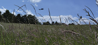 Salisbury Plain with helicopter