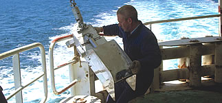 Launching the Continuous Plankton Recorder
