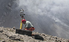 Terrestrial LiDAR scanning of the lava dome, Soufriere Hills Volcano, Montserrat