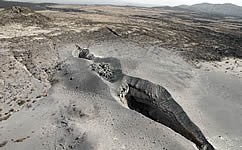 Vent in the Earth's crust in the Afar Depression, north-east Ethiopia