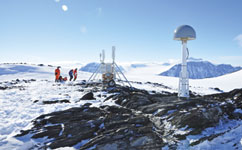 GPS antenna in the Antarctic